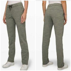 LULULEMON NWOT On the Fly Full Length Pants Green